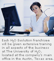 H2O Evolution Franchise for Sale